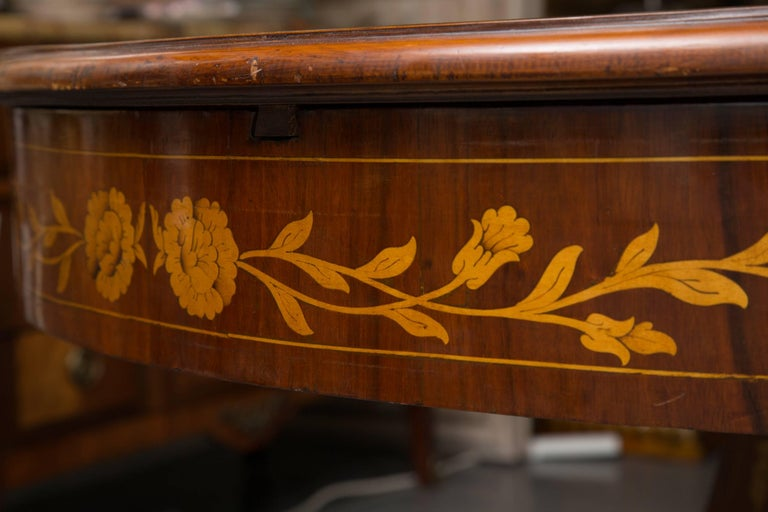 20th Century Dutch Marquetry Centre Table For Sale
