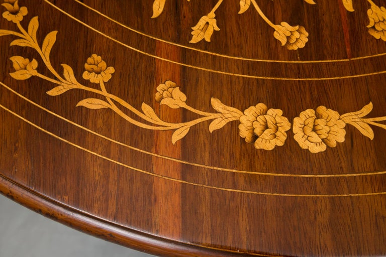 Dutch Marquetry Centre Table For Sale 1