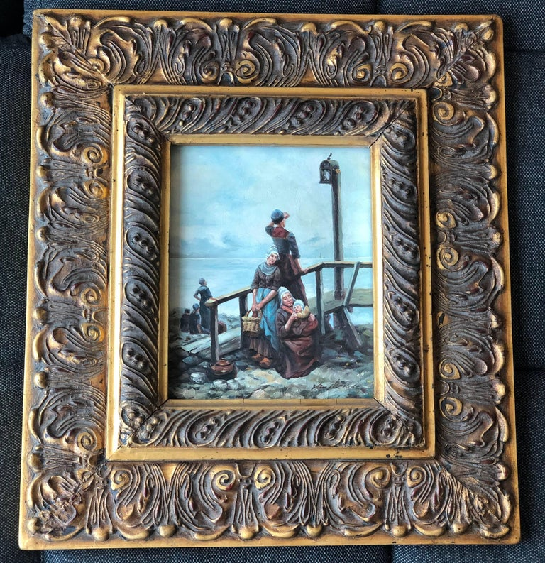 Baroque Dutch Master Golden Age Oil on Wood Painting For Sale