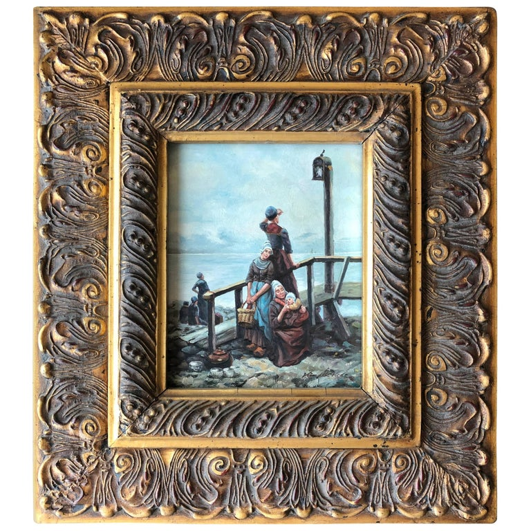 Dutch Master Golden Age Oil on Wood Painting For Sale