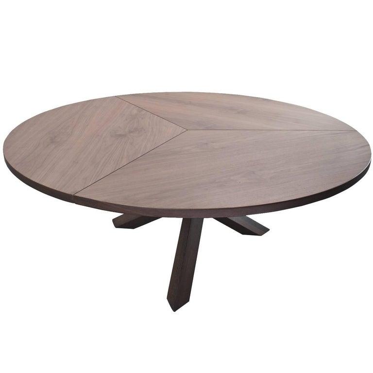 Dutch Midcentury Extra Large Round Walnut Tripod Table by Martin Visser, 1960s