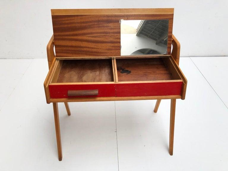 Dutch Mid-Century Modern Solid Birch Vanity Desk by Everest Furniture, 1950s For Sale 6