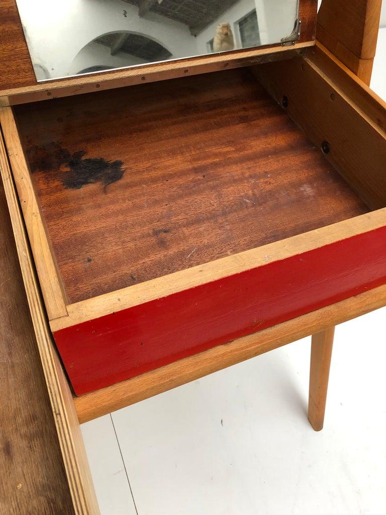 Dutch Mid-Century Modern Solid Birch Vanity Desk by Everest Furniture, 1950s For Sale 9