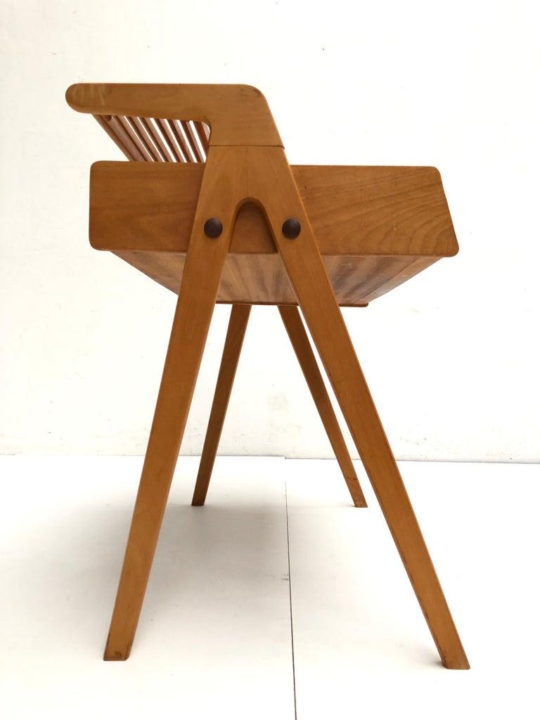 Mid-20th Century Dutch Mid-Century Modern Solid Birch Vanity Desk by Everest Furniture, 1950s For Sale