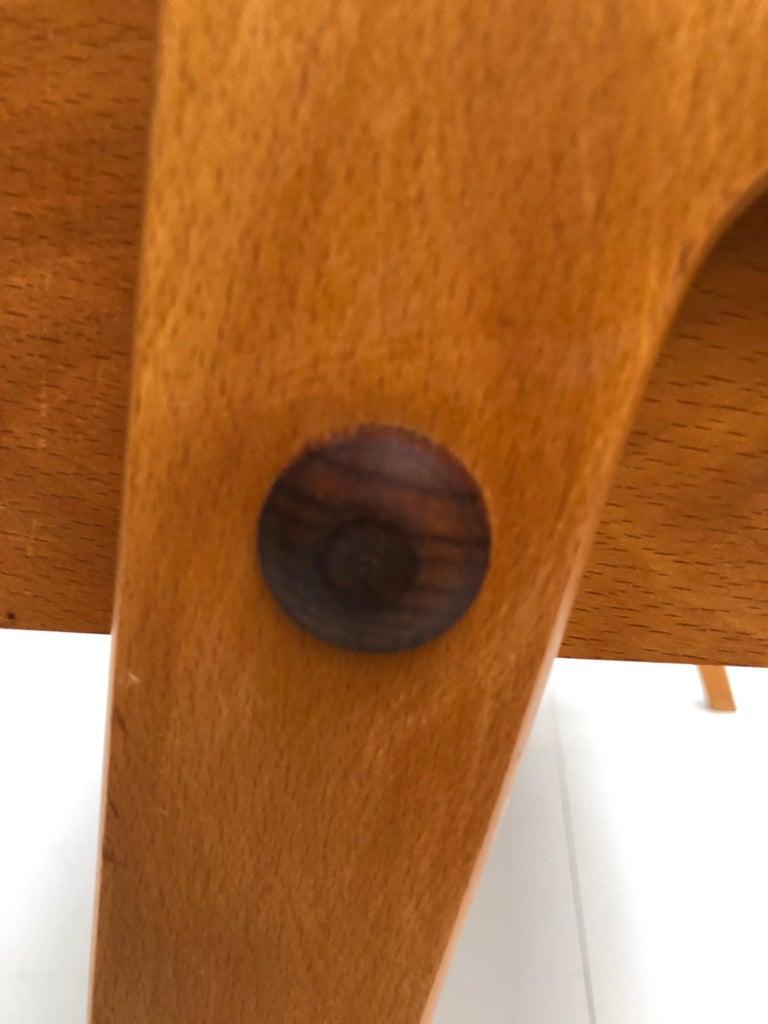 Dutch Mid-Century Modern Solid Birch Vanity Desk by Everest Furniture, 1950s For Sale 2