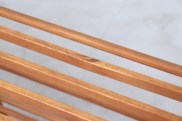 Dutch Modernist Wood Stick Bookshelf For Sale 1