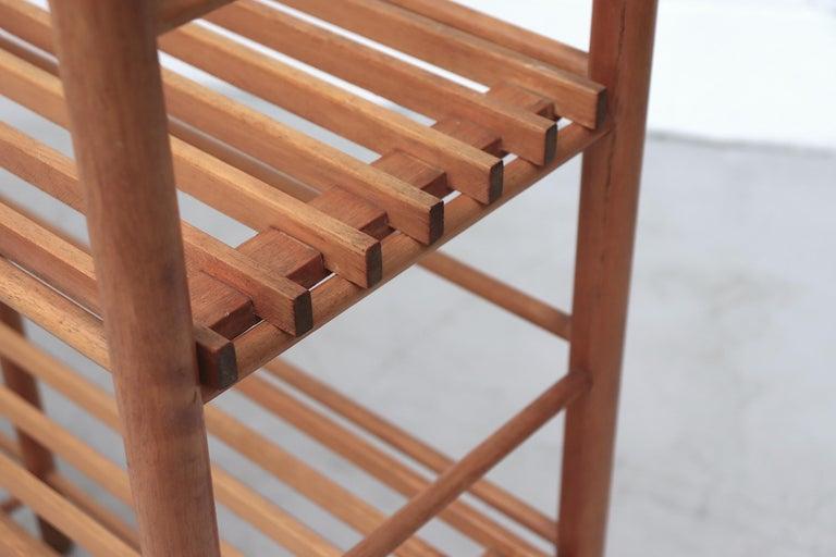 Dutch Modernist Wood Stick Bookshelf For Sale 2