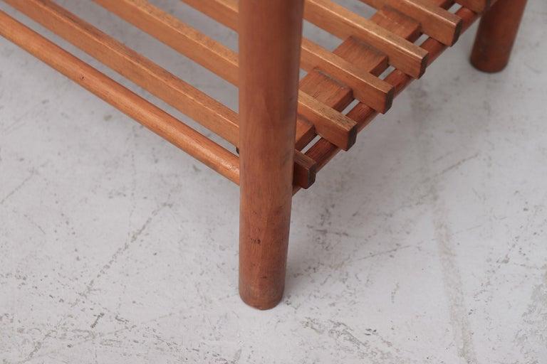 Dutch Modernist Wood Stick Bookshelf For Sale 3