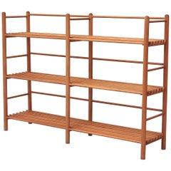 Dutch Modernist Wood Stick Bookshelf