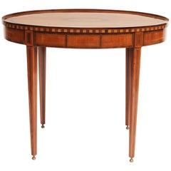 Dutch Neoclassical Satinwood, Mahogany and Ebony Tray Table