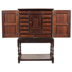 Dutch Oak and Purple Heart Cabinet on Stand