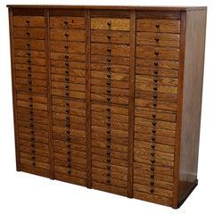 Dutch Oak Apothecary Apothecary Cabinet, 1930s