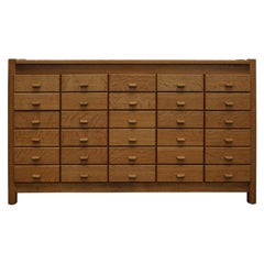 Dutch Oak Apothecary Cabinet or Filing Cabinet, circa 1960s