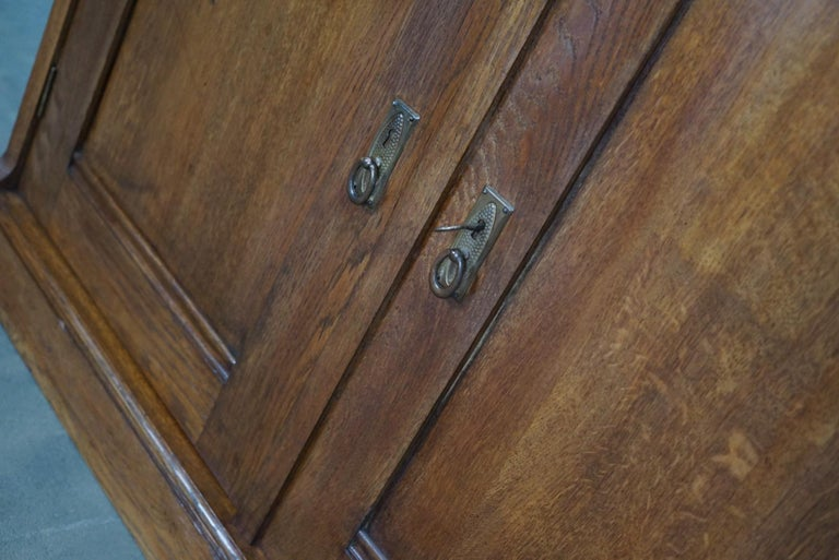 Dutch Oak Apothecary or Filing Cabinet, 1930s For Sale 6
