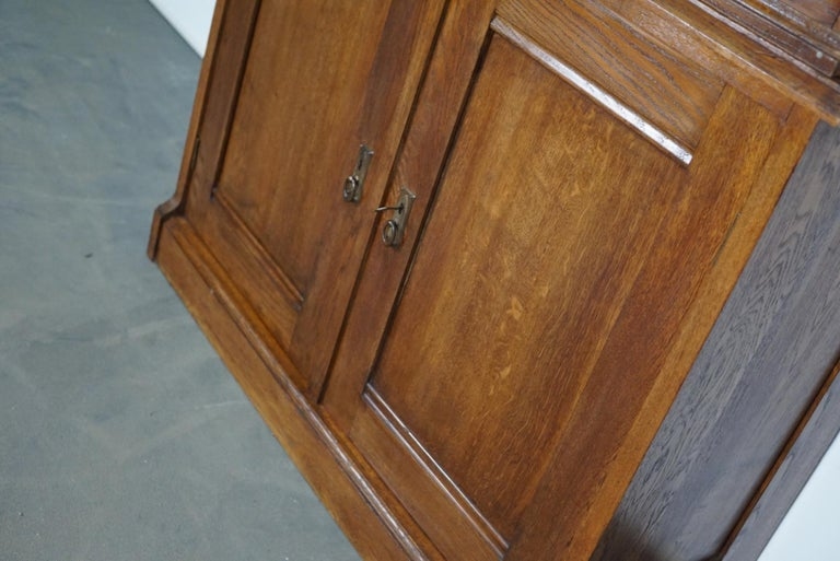 Dutch Oak Apothecary or Filing Cabinet, 1930s For Sale 7