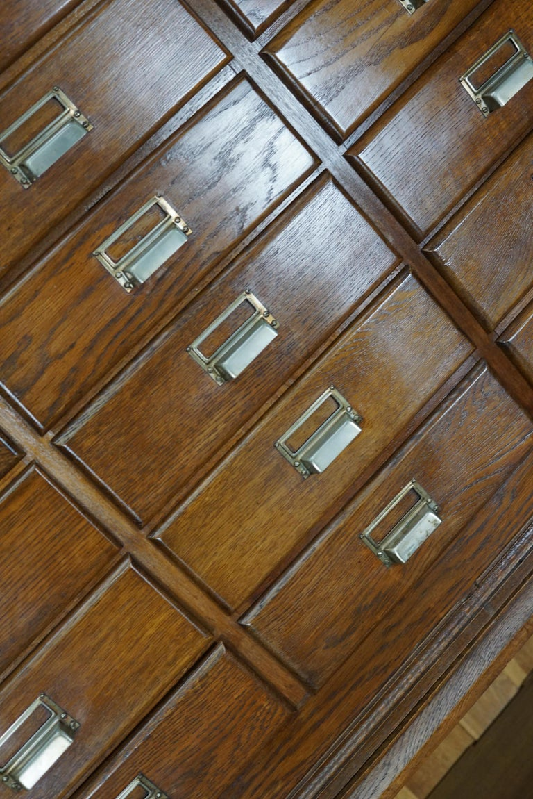 Dutch Oak Apothecary or Filing Cabinet, 1930s For Sale 13
