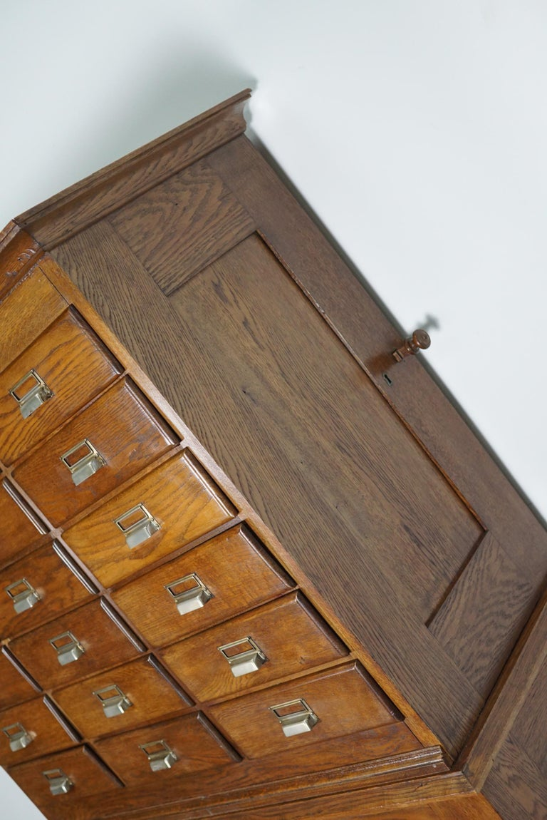 Dutch Oak Apothecary or Filing Cabinet, 1930s For Sale 4