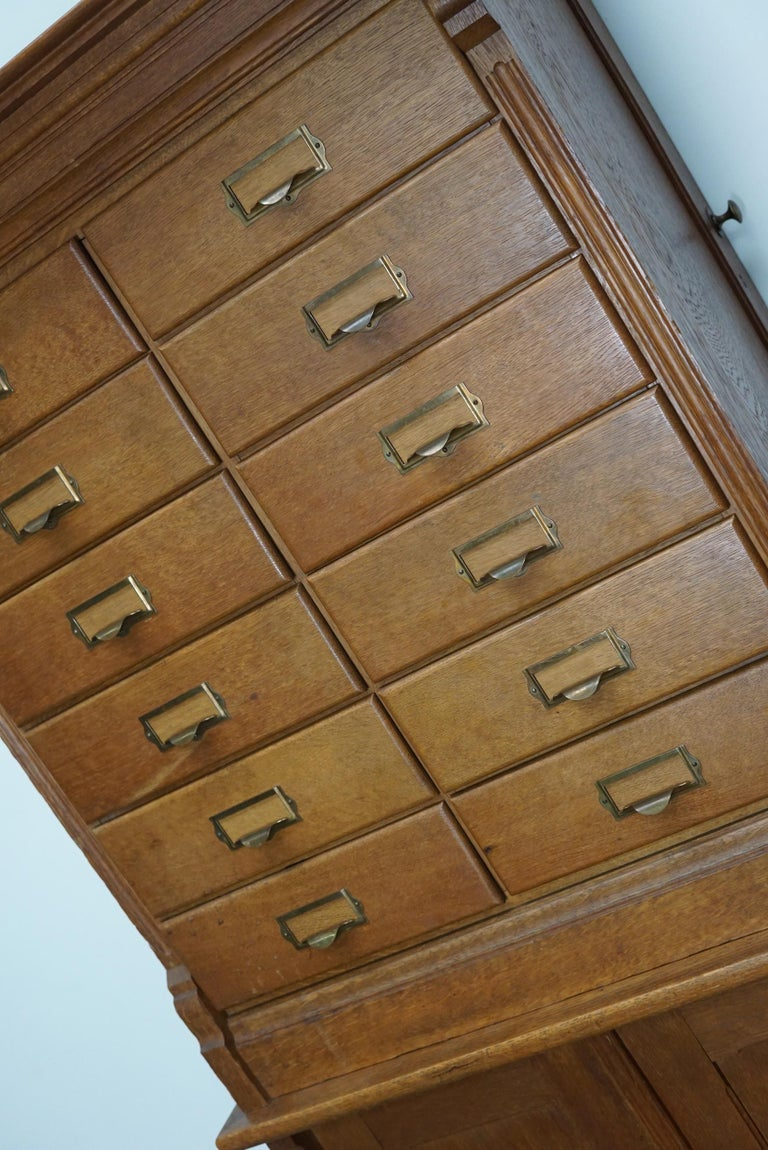 Dutch Oak Apothecary or Filing Cabinet, 1930s For Sale 2