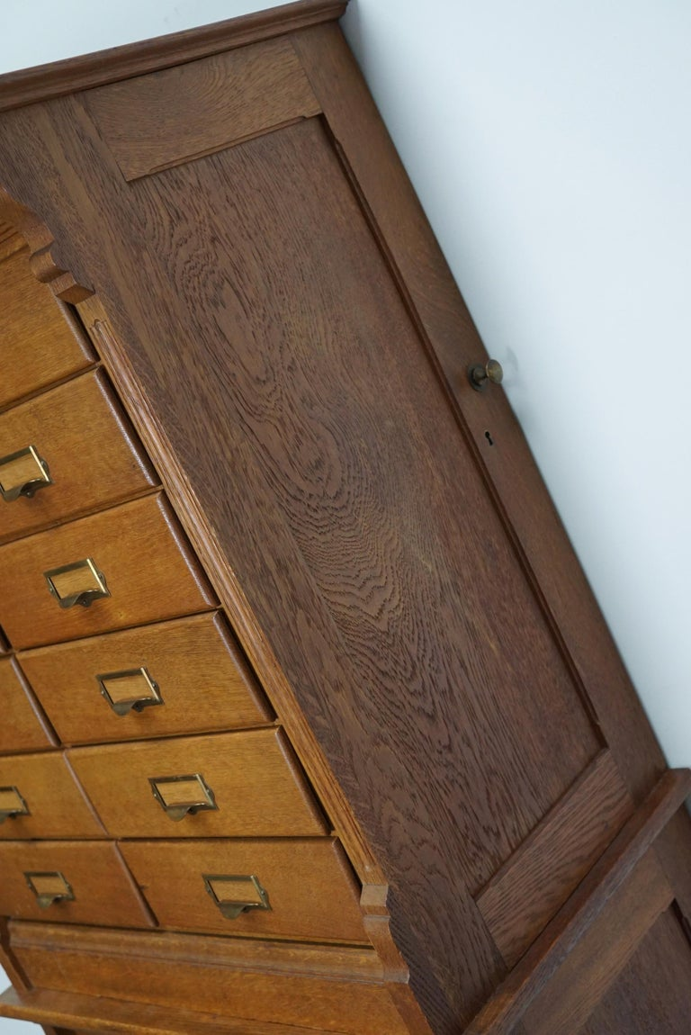 Dutch Oak Apothecary or Filing Cabinet, 1930s For Sale 3