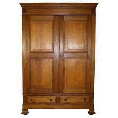 Dutch Oak Armoire, circa 1900