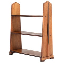 Dutch Oak Art Deco Amsterdam School Book Shelves by P.E.L. Izeren, 1920s
