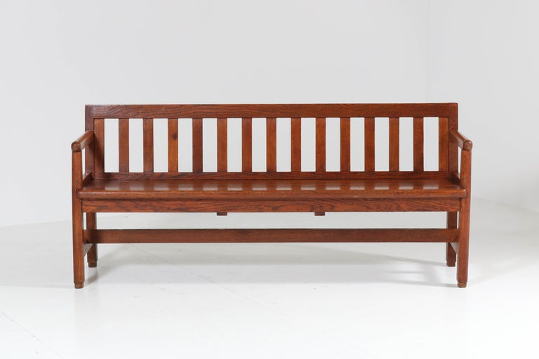 Wonderful and rare Art Deco Haagse School bench.