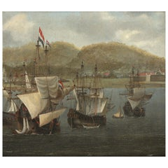 Dutch Old Master Marine Painting by Reinier Nooms, called Zeeman