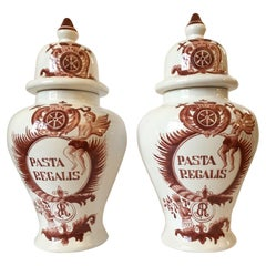 Dutch Pasta Regalis Ginger Jars, Pair