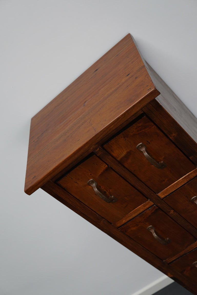Dutch Pine Industrial Apothecary or Workshop Cabinet, 1930s For Sale 7