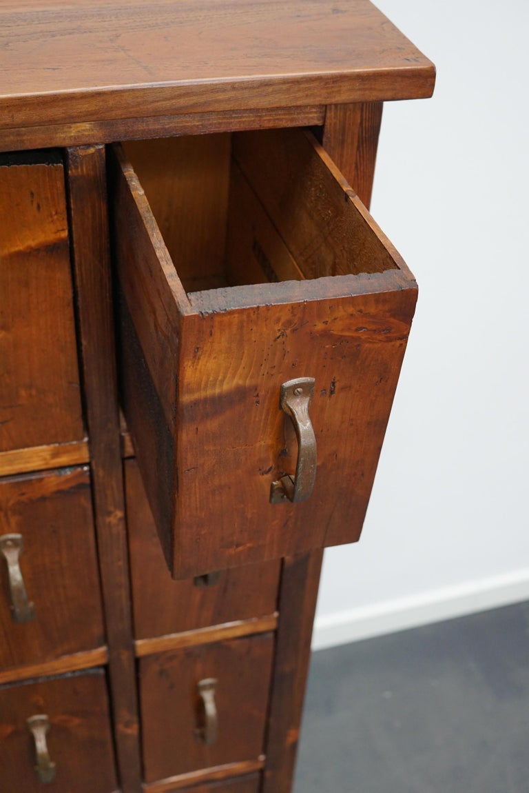 Dutch Pine Industrial Apothecary or Workshop Cabinet, 1930s For Sale 10