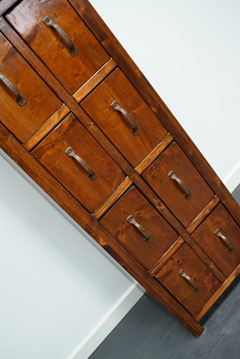 Dutch Pine Industrial Apothecary or Workshop Cabinet, 1930s For Sale 13