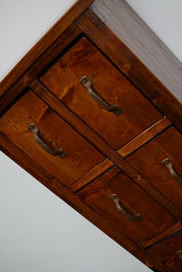Dutch Pine Industrial Apothecary or Workshop Cabinet, 1930s For Sale 4