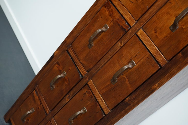 Dutch Pine Industrial Apothecary or Workshop Cabinet, 1930s For Sale 5
