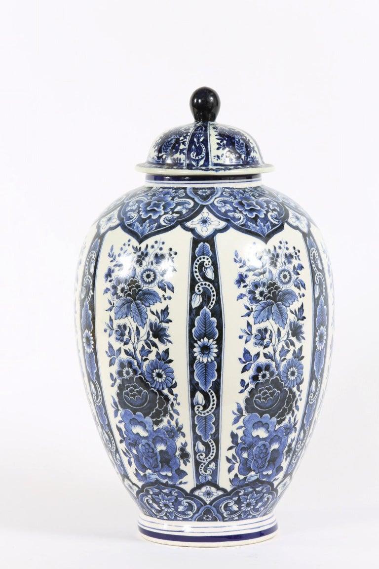 Dutch Porcelain Covered Decorative Urn For Sale 7