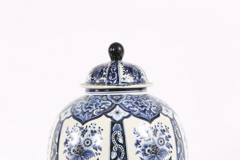 Dutch Porcelain Covered Decorative Urn For Sale 1