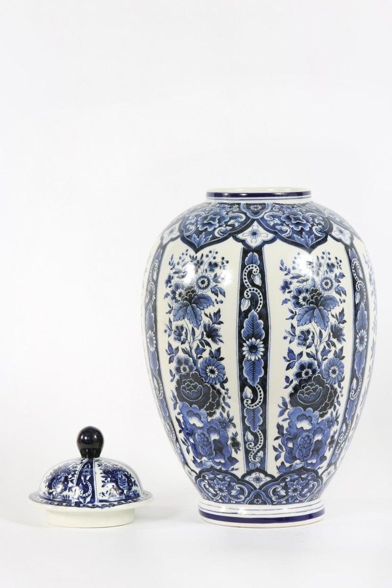 Dutch Porcelain Covered Decorative Urn For Sale 2