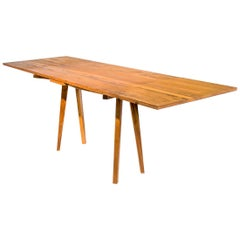 Dutch Pull Out Table in Hardwood with Japanese Joinery and Danish Aesthetics