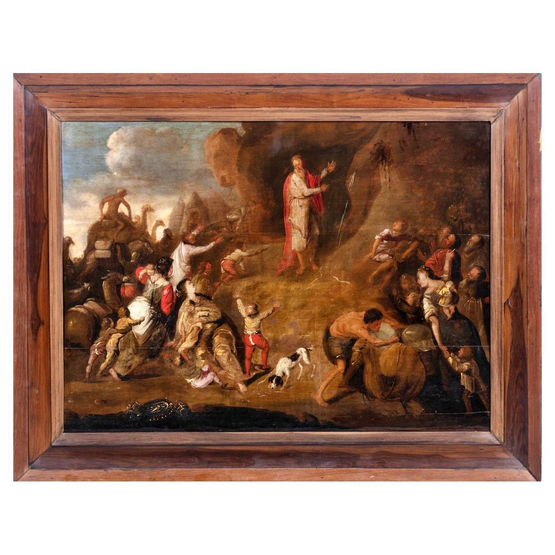 "Dutch School, 17th Century ""Moses on the Stone"""
