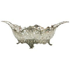 Dutch Silver Bread Basket, 1896