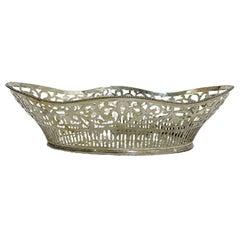 Dutch Silver Bread Basket, Aubert & Zn