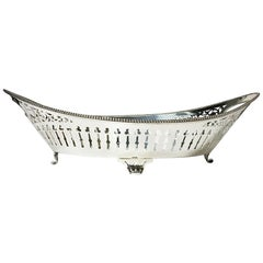 Dutch Silver Bread Basket, N.M. van Kempen en Zonen, 1894