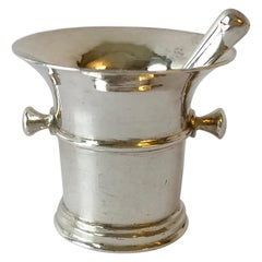 Dutch Silver Miniature Mortar and Pestle