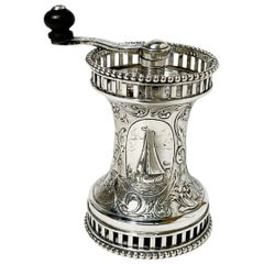 Dutch Silver Pepper Mill by Vos & Co, Haarlem, 1915-1920