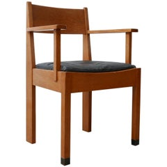"Dutch Single Modernist Chair from ""The Hague"" School"