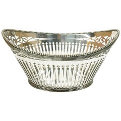 Dutch Small Silver Bonbon Basket by Bonebakker & Zoon, 1912, Amsterdam
