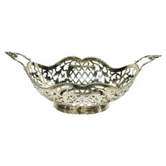 Dutch Small Silver Bonbon Basket by J. Krins, Schoonhoven, 1962
