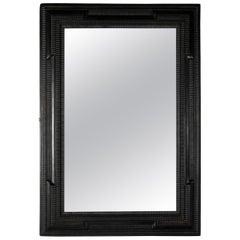 Dutch Style Mirror with Ebonized Frame