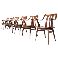 Dutch Teak Plywood Chairs Hans Brattrud Style, 1960