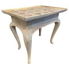 Dutch Tile Topped Side/Tea Table