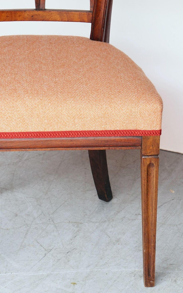 Dutch Upholstered Dining Chairs of Mahogany For Sale 5